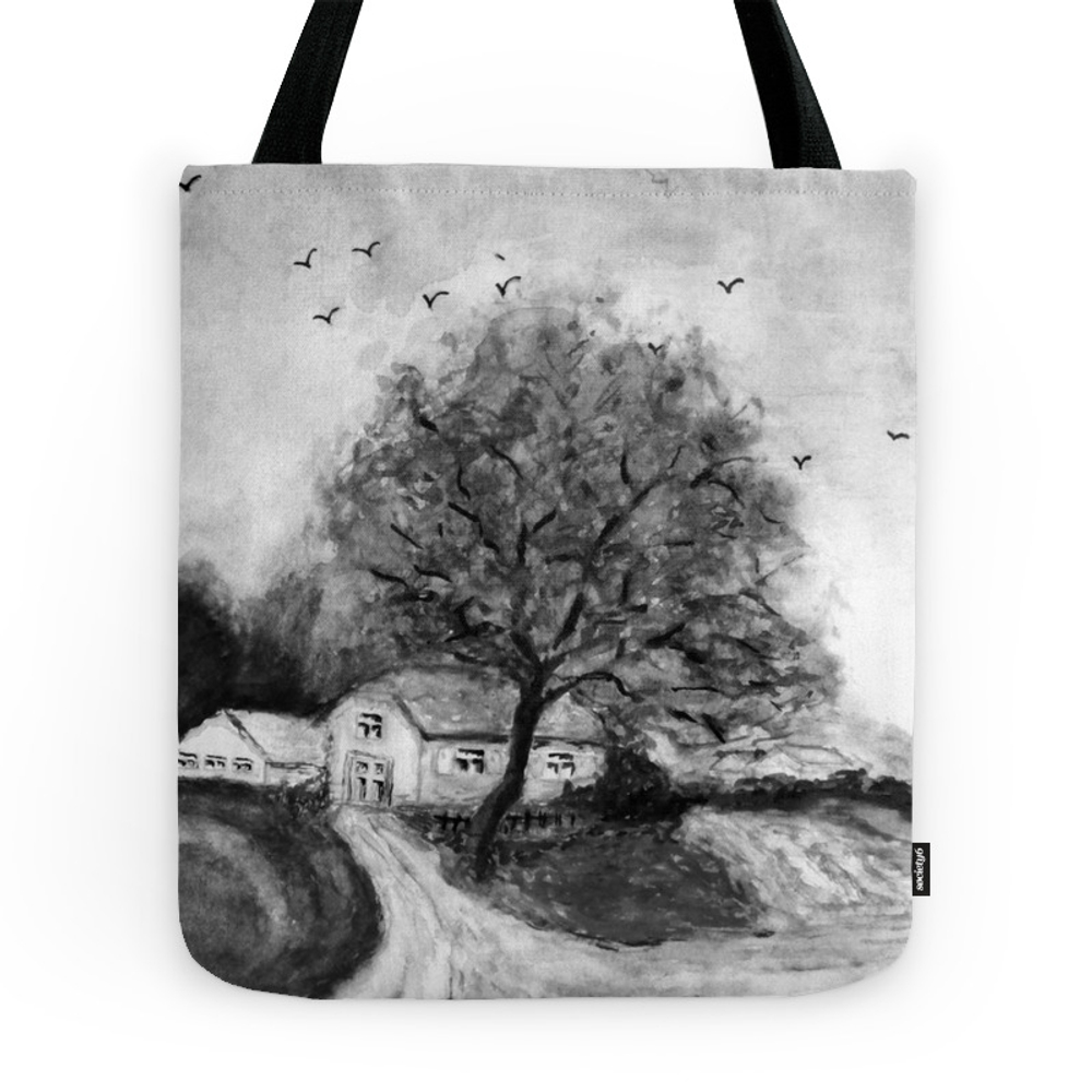 Retro: My Little Home -3- Tote Purse by issabild (TBG7789486) photo