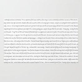 Writer Text White Rug