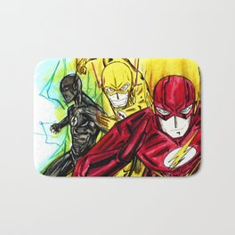 Flashes and lights Bath Mat