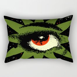 Red and Green All Seeing Cosmic Eye Rectangular Pillow