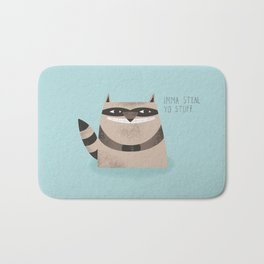 Sneaky Raccoon Bath Mat