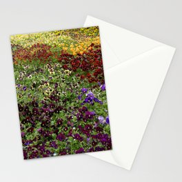 Pansy Garden Stationery Cards