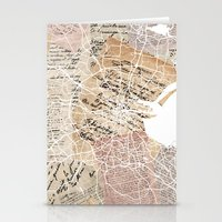 dublin Stationery Cards featuring Dublin by Mapsland