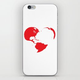 Heart world 2 iPhone Skin