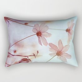 Cosmos Flowers Dancing in the Wind Rectangular Pillow