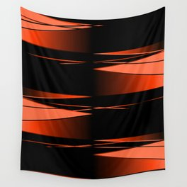 Black and red Wall Tapestry