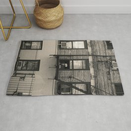 Portrait of a Dog | New York City Urban Street Landscape Photography Rug