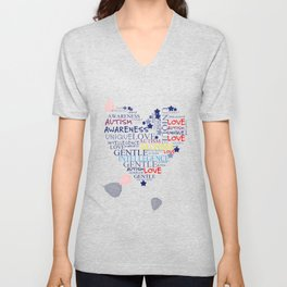 Autism Awareness Unisex V-Neck