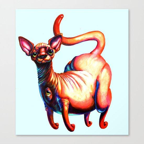 Big Booty Wrinkle Kitten Canvas Print