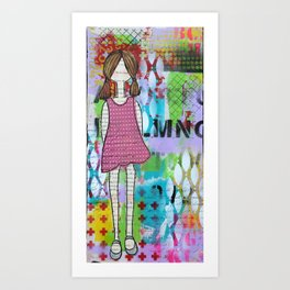 Playful in Pink Art Print