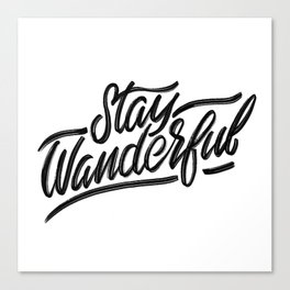Stay Wanderful Canvas Print