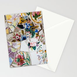 Mosaic Colored Ceramic Tile Pattern Stationery Cards