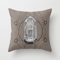sacred geometry Throw Pillows featuring Sacred Geometry  by Kit King & Oda