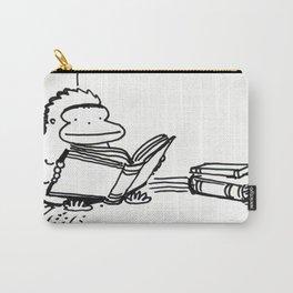 Ape on a Rug Enjoys a Book Carry-All Pouch