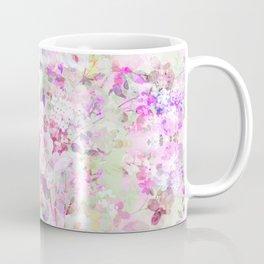 Shabby vintage violet lavender pink watercolor floral Coffee Mug