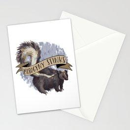 Misogyny Stinks Stationery Cards