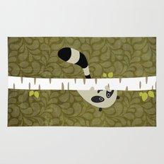 A shy raccoon Rug