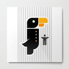 Angry birds or Angry Human #society6 #decor #buyart #artprint Metal Print