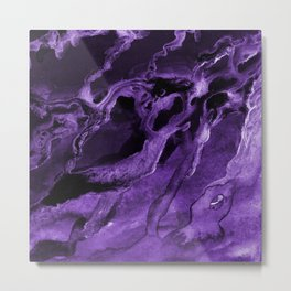 Purple watercolor abstract no.dd1708331p Metal Print