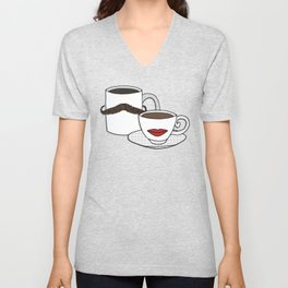 The Caffeinated Couple Unisex V-Neck