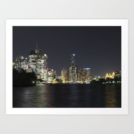 Brisbane by night Art Print