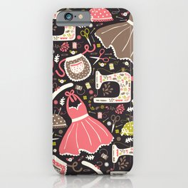 Vintage Sewing iPhone Case