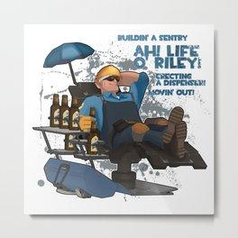 Blue Engineer - TF2 Metal Print