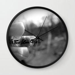 True Love Waits Wall Clock