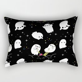 Funny Boo Halloween Ghost Adventure Treasure Hunt Rectangular Pillow