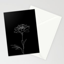 Rose line drawing - Lorna Black Stationery Cards