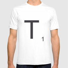 Scrabble T Mens Fitted Tee White MEDIUM