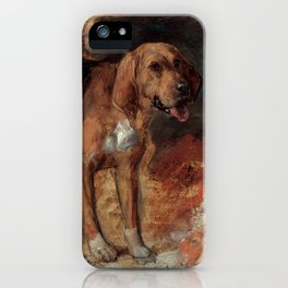 "William Holman Hunt ""Study Of A Bloodhound"" iPhone Case"