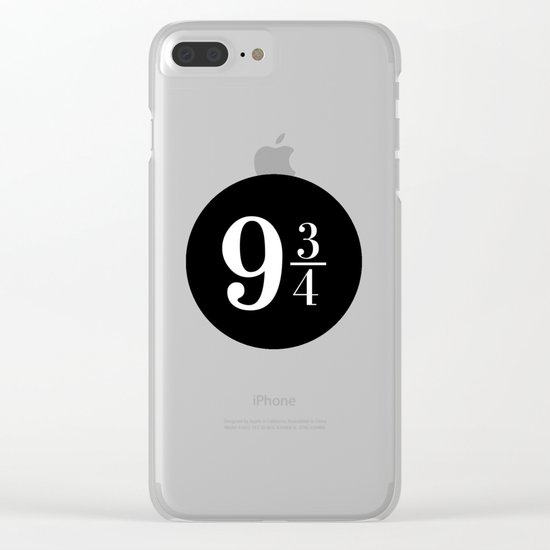 Platform 9 3/4 Clear iPhone Case