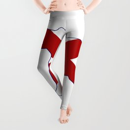 Alabama Republican Elephant Flag Leggings