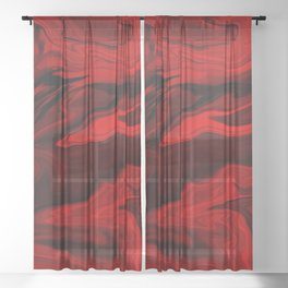 Blood Red Marble Sheer Curtain