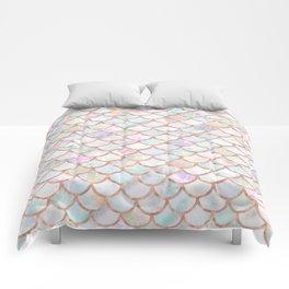 Pastel Memaid Scales Pattern Comforters