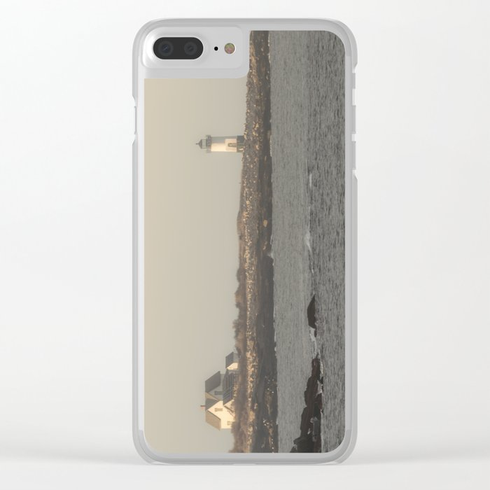 Hazy Straitsmouth lighthouse Clear iPhone Case