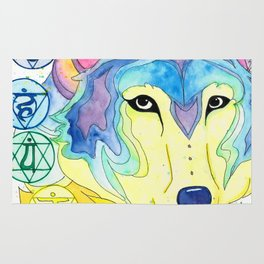 Chakra Wolf Rug