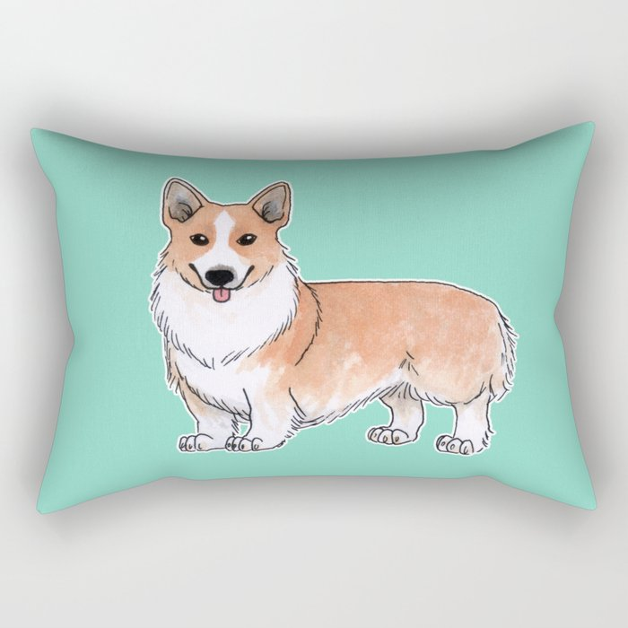 Pembroke Welsh Corgi dog Rectangular Pillow
