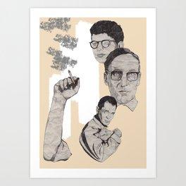 Burroughs, Ginsberg and Kerouac Art Print