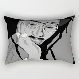 Thug in thought Rectangular Pillow