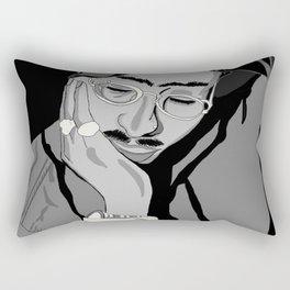 Thug in thought Rectangular Pillow