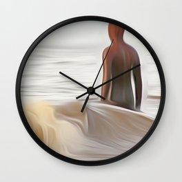Gormley Statue (Digital Art) Wall Clock