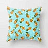 hawaii Throw Pillows featuring Hawaii by Kakel