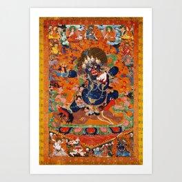 Buddhist Diety Mahakala 2 Art Print