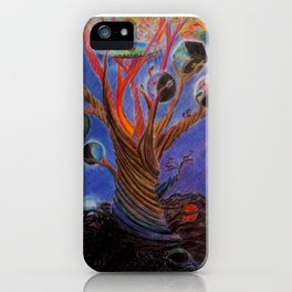 The tree of many worlds iPhone Case