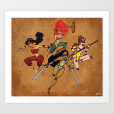 Teenage Disney Ninja Princesses Art Print