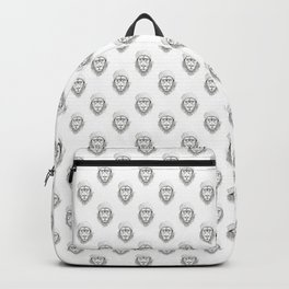 Cool lion (bw) Backpack