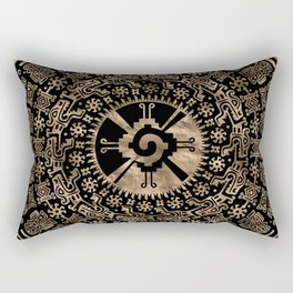 Hunab Ku Gold on black #4 Rectangular Pillow