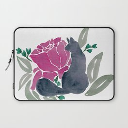 Floral Cat Laptop Sleeve